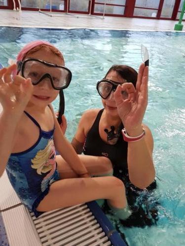 Nage avec palme - enfants